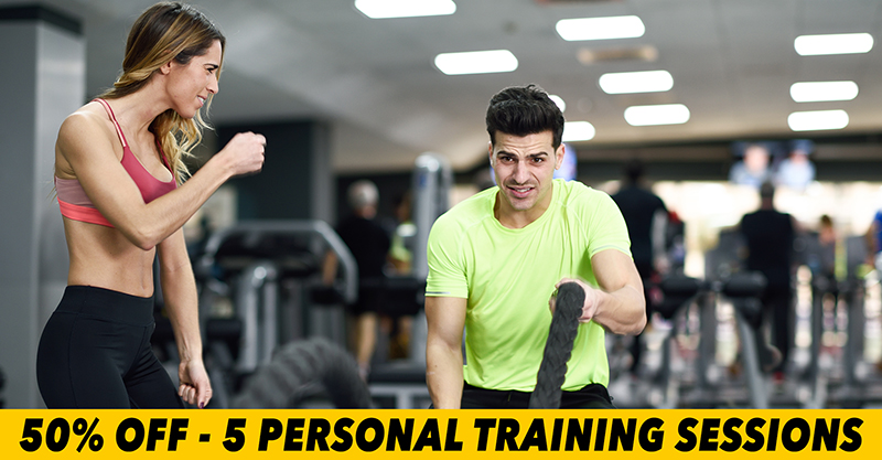 50% Off 5 Personal Training Sessions