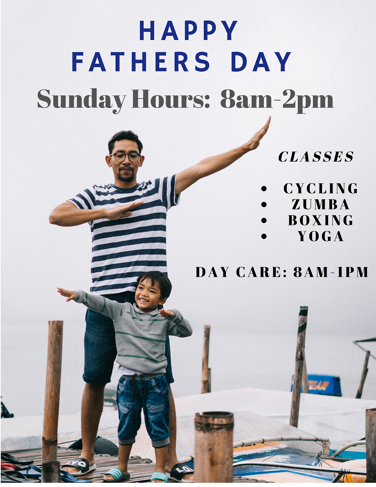 Father's Day Hours & Classes