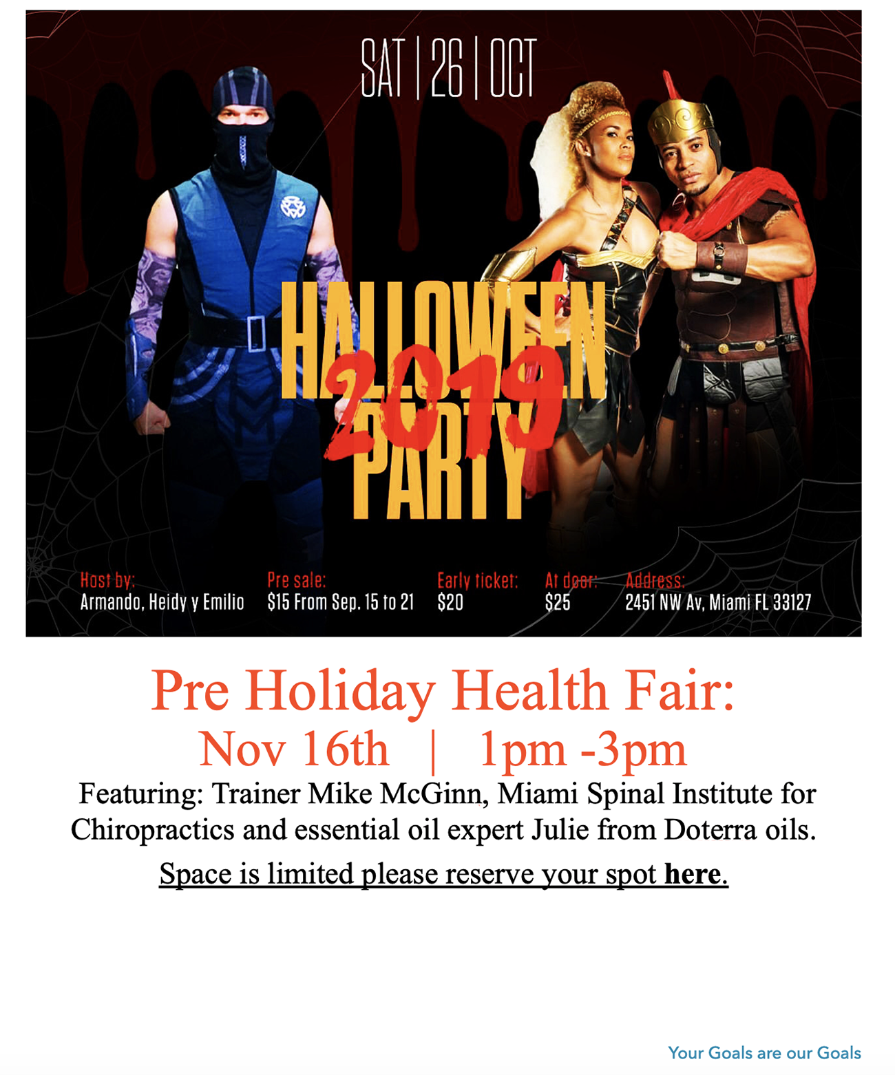 Olympia Gym Pre Holiday Health Fair
