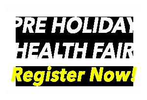 Pre Holiday Health Fair Header