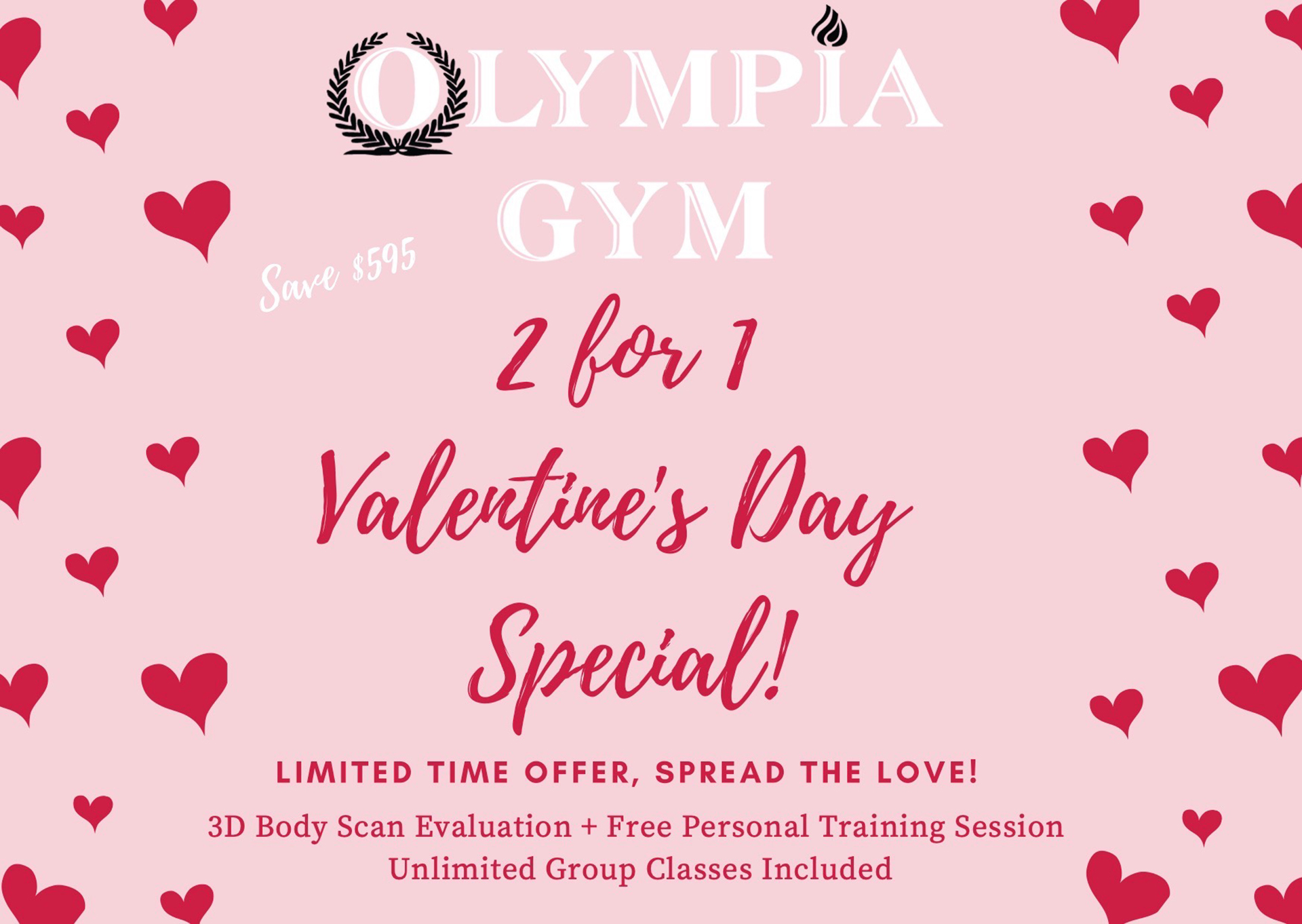 2 for 1 Valentine's Special