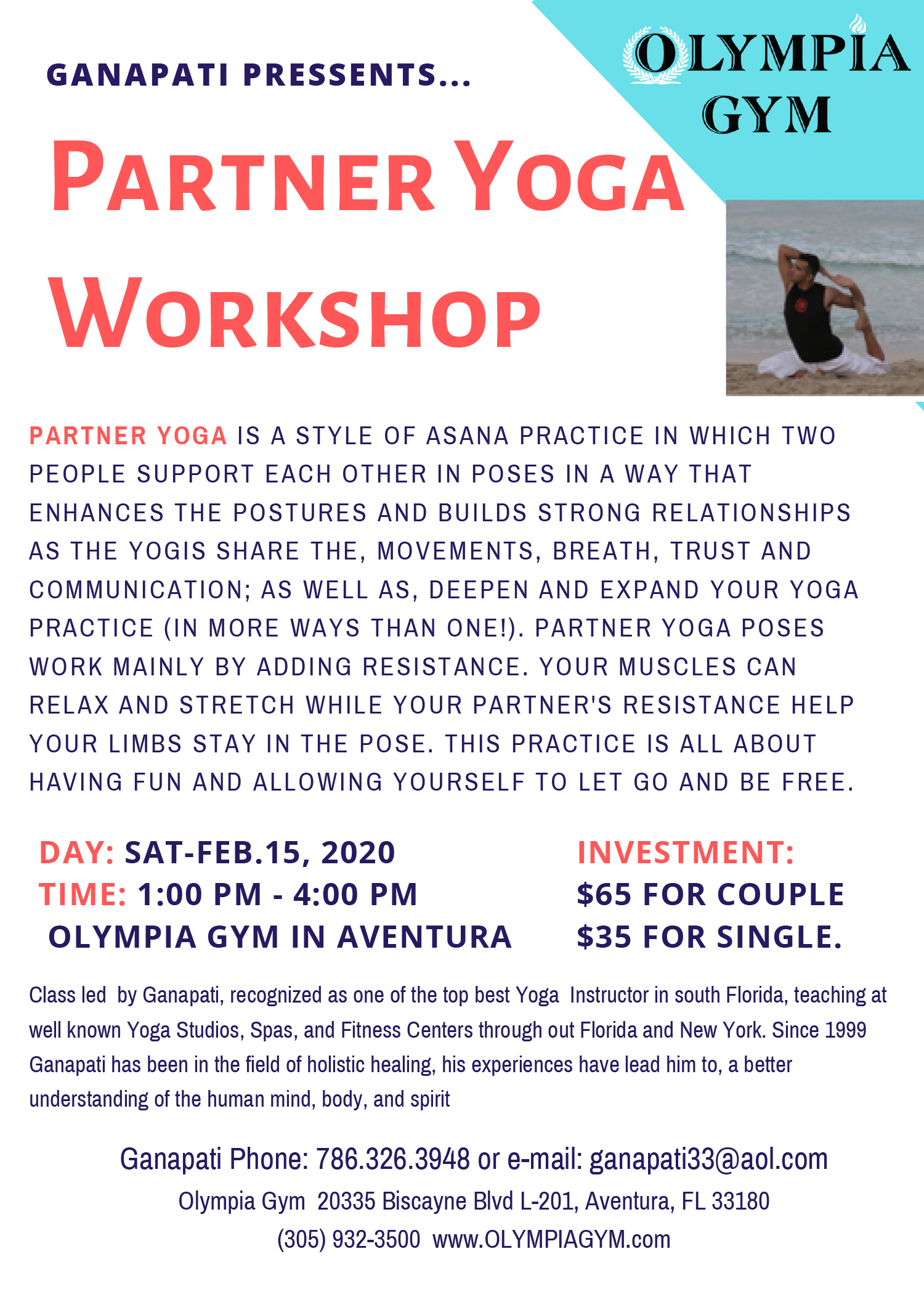 Couples Yoga Class - February 15th, 2020