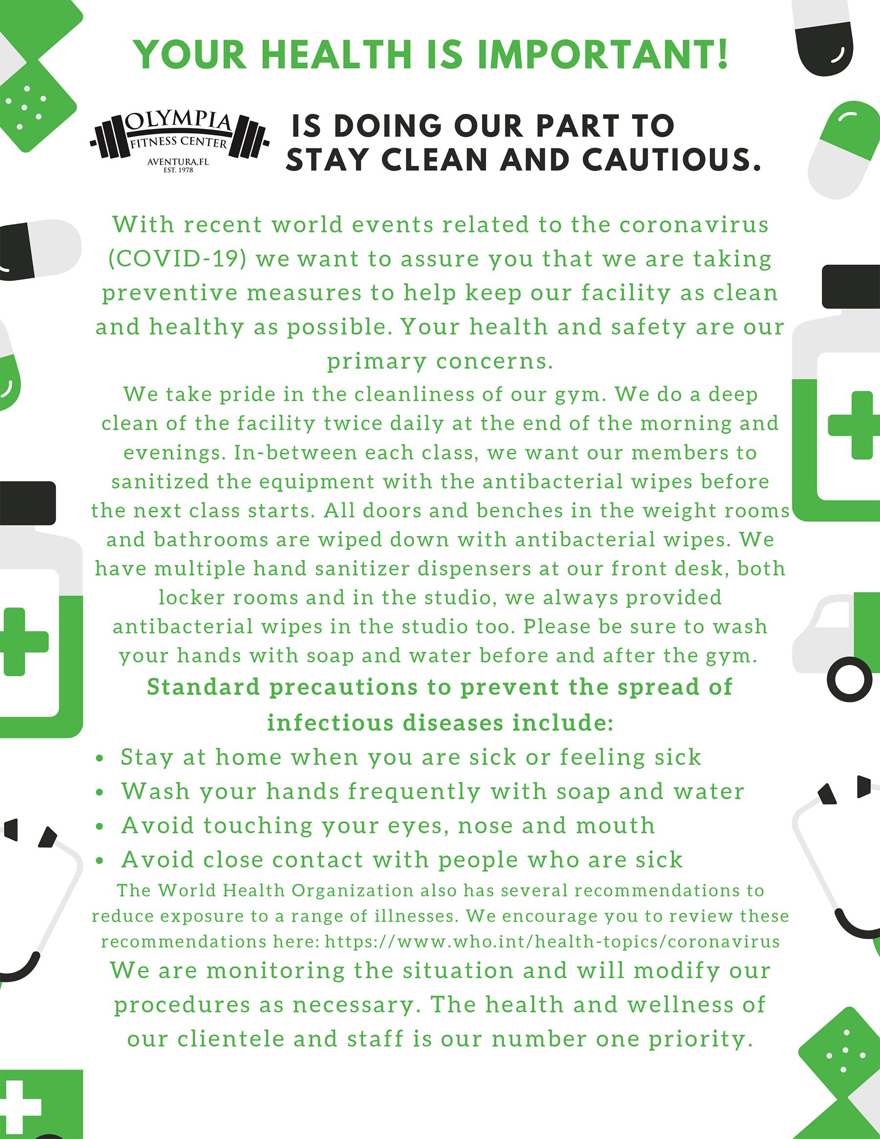 Health & Safety Notice
